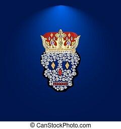 Skull of precious stones