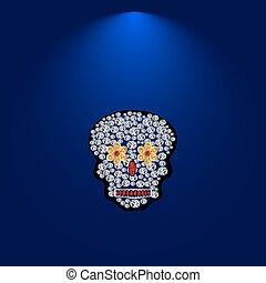 Skull of precious stones.4 .eps