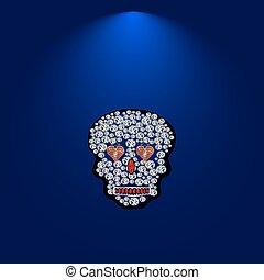 Skull of precious stones.5.eps