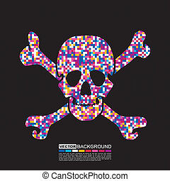 skull on grunge background