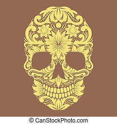Skull Ornamental Flower