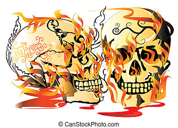 skull-pattern-line-art