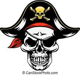 Skull Pirate Mascot - An illustration of a pirate Skull...