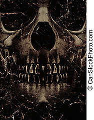 Skull Poster Background - Dark photo collage poster template...