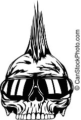 skull punk sunglasses