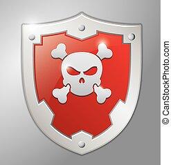Skull red badge