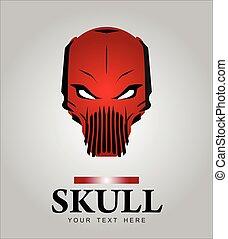 Skull. Red skull.