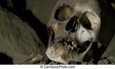 Skull Remains Of A Pre-Ican Man, Uyuni, Bolivia - Extreme...
