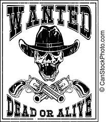 skull revolver wanted dead var 6