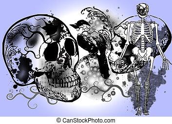 skull-rock-art