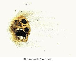 skull sand storm effect