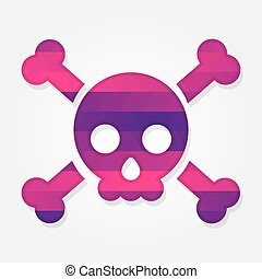 Skull shape with colorful triangles
