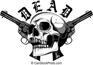 Skull soldier army mascot logo design illustration