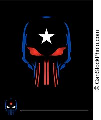 Skull & Star shape icon.eps