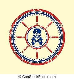 Skull symbol grunge