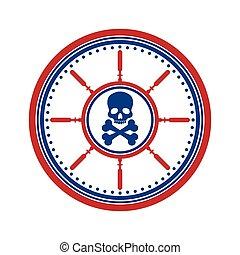 Skull symbol on white