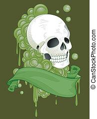 Skull Tattoo Ribbon