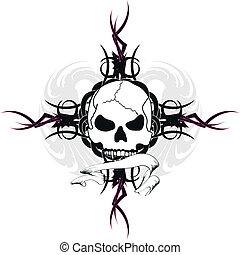 skull tribal tattoo11