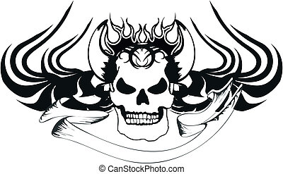 skull tribal tattoo5