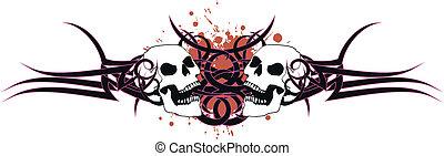 skull tribal tattoo6