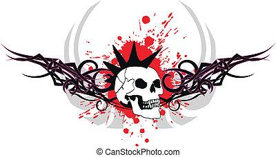 skull tribal tattoo7