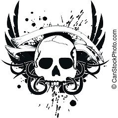 skull tribal tattoo8
