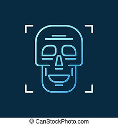 Skull vector outline concept colorful icon on dark background