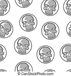 skull vector seamless pattern