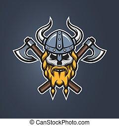 Skull viking warrior.