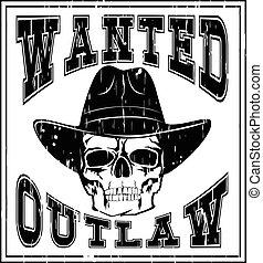 skull wanted outlaw var 2
