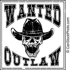 skull wanted outlaw var 6