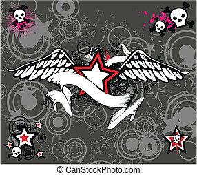 skull wigedstar background1 - skull wigedstar background in...