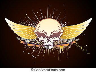 skull winged emblem