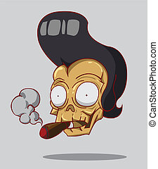 Skull With a Cigar