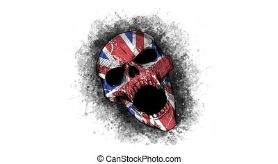skull with a england flag video - skull with a england flag ...