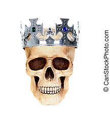 Skull with a silver crown