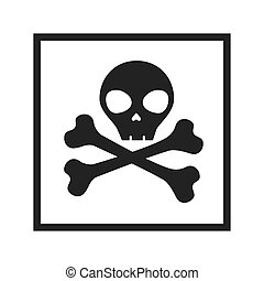 skull with bones sign
