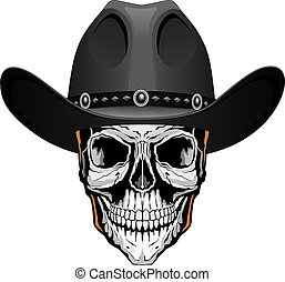 Skull With Cowboy Hat