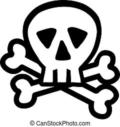 Skull with crossbones outline