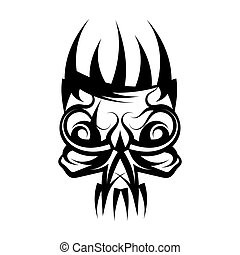 Skull with crown on head tattoo.