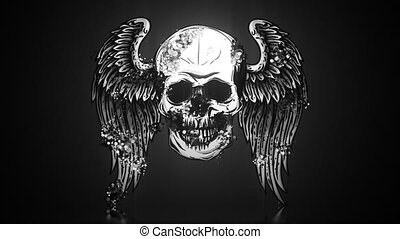 Skull with Wings video animation