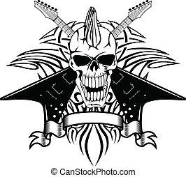 skull withguitars