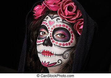 skull woman face