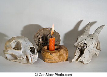 Skulls and Candle 1