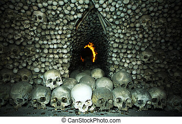 Skulls and coins