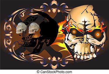 skulls art tattoo