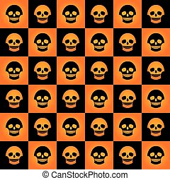 skulls chess pattern gradient