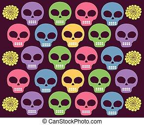 skulls colored  - Is a EPS 10 Illustrator file