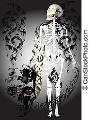skulls-gray-design-line-thai