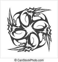 Skulls T-shirt design logos